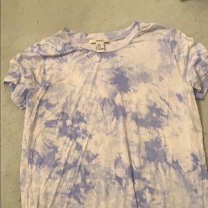 i am selling a blue and white tie dye top